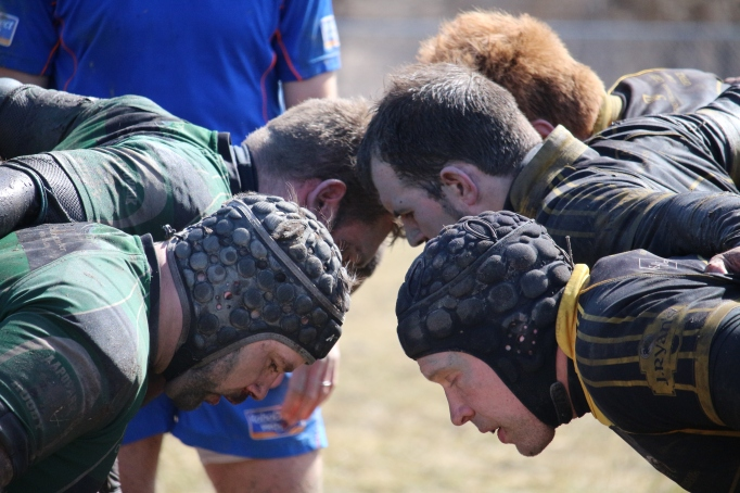 Syracuse Chargers Rugby Scrum